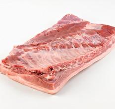 Pork belly, bone in rind on, Deli